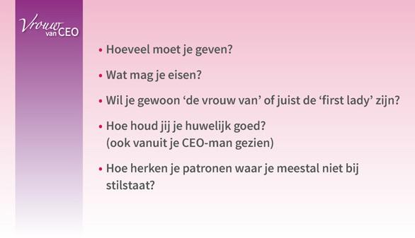 vrouw van CEO